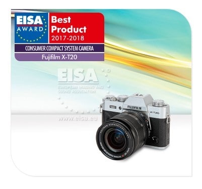 Fujifilm digital cameras - X-T20 is the best compact system camera for 2018 according to EISA