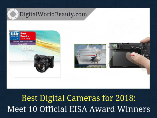 The best digital cameras for 2018 that received EISA camera awards. Include: professional DSLRs, superzoom cameras and compacts.
