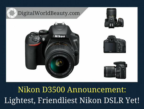 Nikon D3500 announcement and release (September 2018)