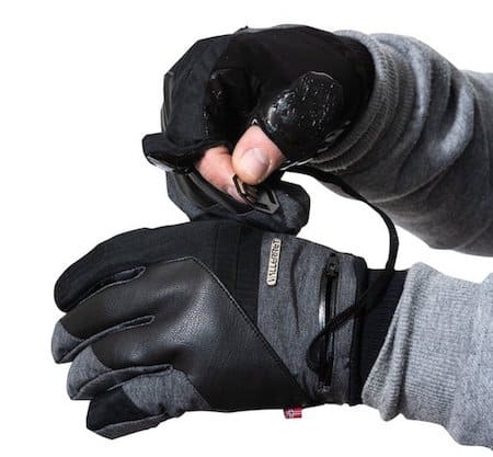 An image of Markhof Pro 2.0 gloves with SD card pockets and tripod key.