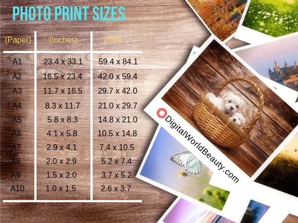 A Guide to Standard Photo Print Sizes (Paper, Inches and Centimetres)