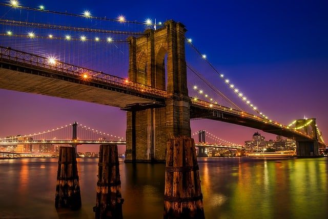 Brooklyn Bridge: best place to take a picture of New York City skyline.
