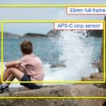 Example of APS-C crop sensor vs 35mm full-frame sensor