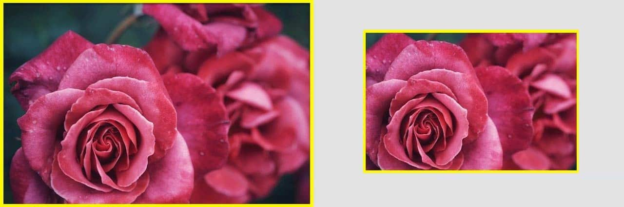 Example of a crop factor and how does it work.