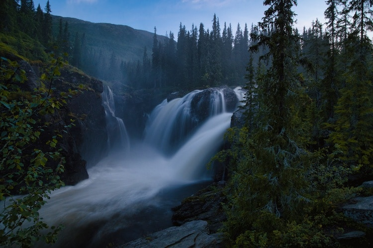 Shooting waterfalls in low-light with Nikon Z6 mirrorless camera